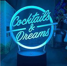LED-nachtlampjes 3D illusie nachtkastje lamp cocktail en dream bar decoratieve verlichting 16 kleuren touch tafellamp cade...