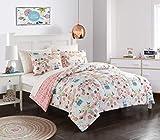 American Kids Llama Comforter Set, Twin, Pink