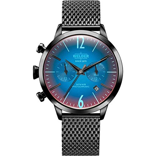 Welder Damen-Armbanduhr 38mm Armband Edelstahl Schwarz + Gehäuse Quarz WWRC600