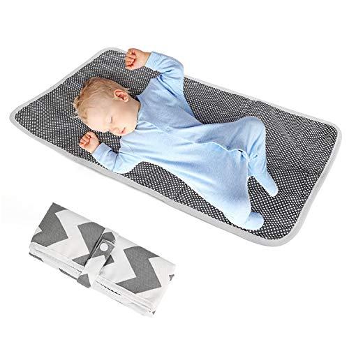 Ballery Wasserdicht Wickelunterlage für Babys und Kleinkinder, Tragbar Wickelunterlage Wasserdicht Matratze Atmungsaktiv Pads Ideales Geschenk für Baby auf Home Reisen Außerhalb