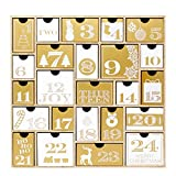 JOYIN Wooden Advent Calendar with 24 Drawers for Christmas 24 Days Countdown Advent Calendar Christmas Calendar Decoration
