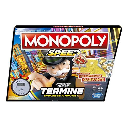 Monopoly Speed - Jeu de Societe - Jeu de Plateau - Version Française
