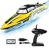RC Boat-AlphaRev R208 20+ MPH Fast Remote Control Boat for Pools and Lakes, RC Boats for Adults and Kids