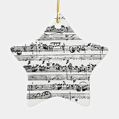 onepicebest Christmas Decorations, Christmas Ornaments 2020, Bach Music Hanging Ornament for Christmas Tree, Decorative Hanging Ornaments, Gift Wrap Decor, Star Shape