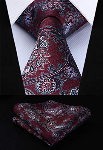 Best Design Tp714u8s Burgundy Blue Paisley 3.4, Burgundy Paisley Scarf - Ralph Lauren Paisley Comforter Set, Dark Green Paisley Tie, Red Blue Paisley Tie, Mens Ties Burgundy Blue