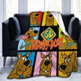 FT FENTENG Flannel Fleece Throw Blanket for Fall Hotel Bedding, Super Cozy Scoo-by-Do-o Dog Movie Poster Art Christmas Blanket, Quality Lightweight 50x40 Inch