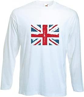 Tribal T-Shirts Men's Union Jack Long Sleeve T-Shirt