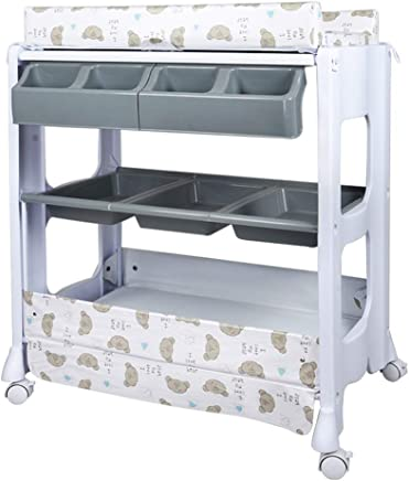 Unique Design Baby Changing Clothes Diaper Table  Massage Care Table  with Bathtub Diaper Storage Basket  Available Three Colors