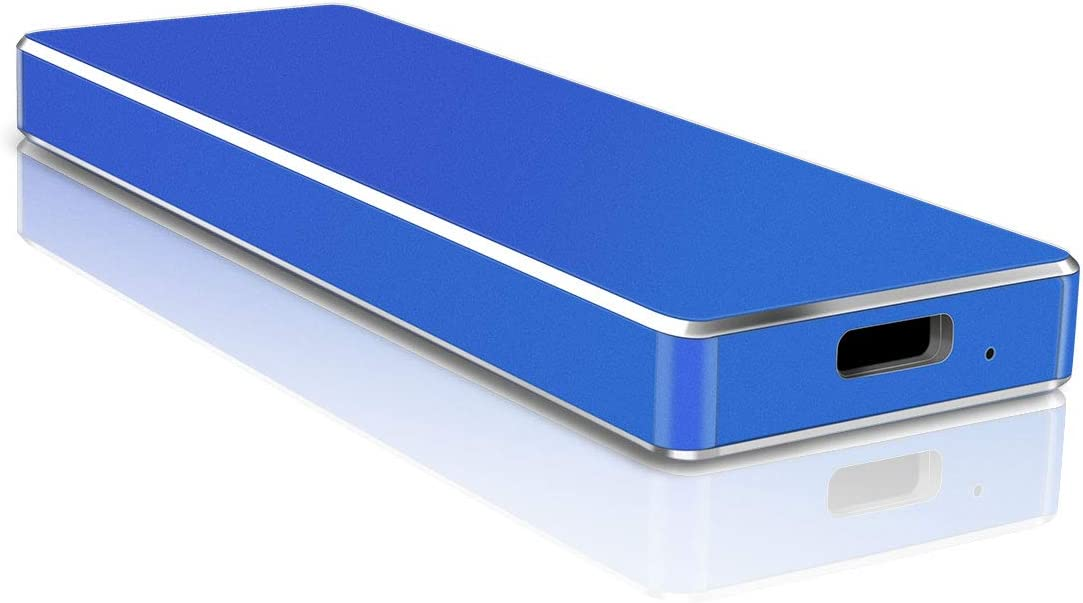 Hard Drive High Speed, Type C External Hard Drive USB 3.1 HDD for PC/Mac/Windows/Xbox (1TB,Blue)