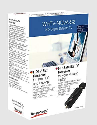Hauppauge WinTV-Nova-S2 01676 USB TV-Tuner HD digital Satellit Fernsehen DVB-S2 und DVB-S für Laptop oder PC