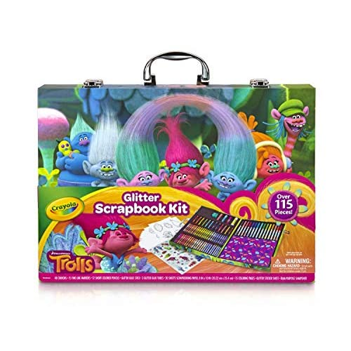 Crayola 04-6928 - Valigetta Glitter Trolls
