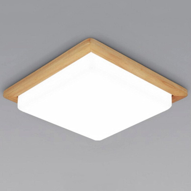Quadratische Massivholz Deckenleuchten15w18w (Farbe   Wei-18w 36cm)