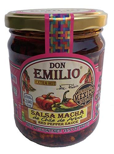 Salsas Macha Don Emilio 15.5oz Chile de árbol