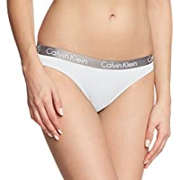 Calvin Klein Radiant Cotton-Bikini Lencería, Blanco (White 100), Medium para Mujer