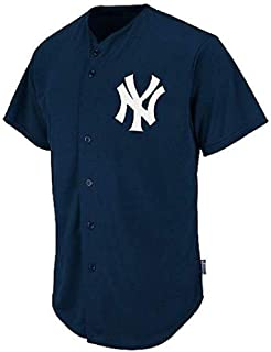 Majestic Athletic New York Yankees Full-Button BLANK BACK Major League Baseball Cool-Base Replica MLB Jersey