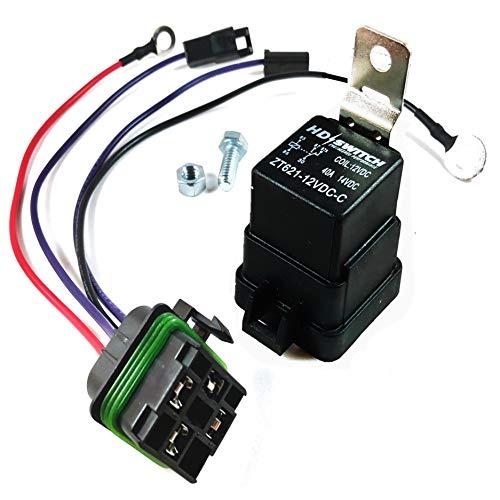 HD Switch Starter Relay Kit Replaces John Deere AM107421 Kawasaki Onan 130 160 165 170 175 180 185 316 318 320 420 F510 F525 F910 F930 GX70 GX75 GX95 SX75 SX95 SRX75 SRX95 STX30 STX38 STX46 RX63 RX75