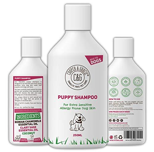 C&G Pets | Welpen-Shampoo 500 ml | für stinkende Hunde mit juckender empfindlicher Haut | Medizinische Pflegespülung Welpen sicher | Effektiv für Allergie Prone Hundehaut | Gesund glänzendes Fell