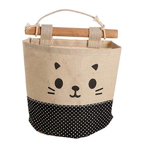 Bolsa de algodón y lino para almacenar lápices u objetos pequeños – para colgar en la pared o dentro de un armario