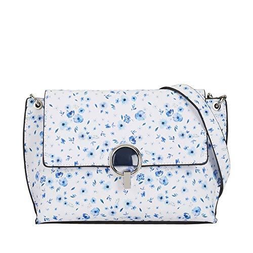 Parfois - Bandolera Estampado Floral - Mujeres - Tallas S - Azul