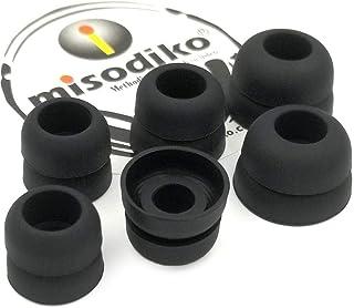 misodiko S450D Silicone Earbuds Tips - for Sennheiser CX 200 215 300 II, IE80/ Beats X, Powerbeats/Smokin' Buds, Ink'd, Me...