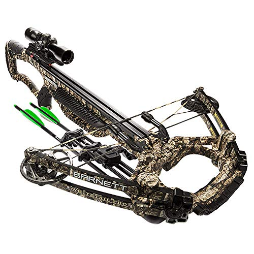 BARNETT Whitetail Pro STR Intelligent 405 Foot Per Second TriggerTech Hunting Crossbow, 36.5 Inches Long and 20 Inches Wide, Trubark Camouflage