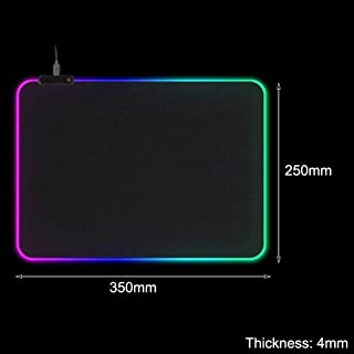 قاعدة ماوس مضيء مقفلة للكمبيوتر الشخصي من المطاط غير انزلاقية مقاس كبير 900 × 400 للاعبين بتقنية ليد باضاءة الفضاء اللوني ...