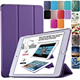 DuraSafe Cases for Apple iPad Air 1st Generation 2013-9.7 Inch Slimline Series Lightweight Protective Cover with Dual Angle Stand & Froasted PC Back Shell - Purple