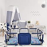 Parque de juegos para bebés, para interior y exterior, con red transpirable, 122 x 182 x 66 cm
