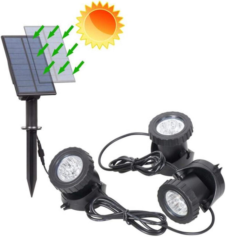 WXH Unterwasserscheinwerfer-Solarlichter frbten justierbare Landschaftsprojektor Ip68 wasserdichtes Unterwasserlicht für Park Rockery-Teich-Aquarium,XL
