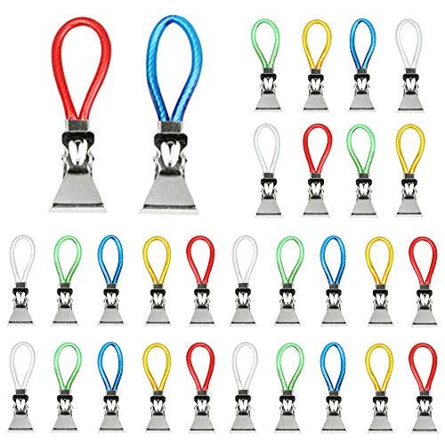 yyuezhi Multifunktions Clips Handtuch Haken Handtuchhalter Clips Handtuchhaken aus Metall Bunte Klemmen als Handtuchhaken Clip Aufhänger zum Aufhängen von Handtüchern Topflappen Geschirrtücher 30Pcs