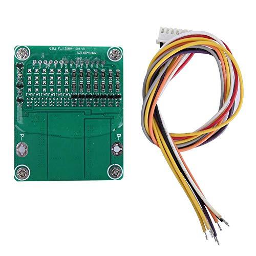 Placa de protección de batería de litio, placa PCB BMS 7S 24V 25A 500W Módulo de protección de batería de iones de litio Placa de protección de batería de litio con balanza