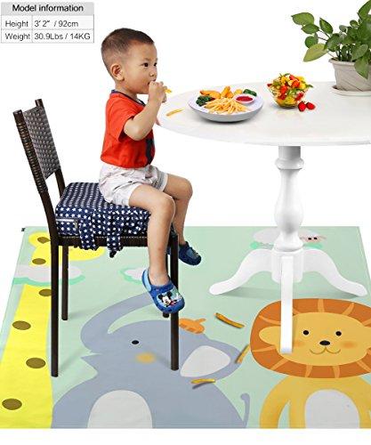 Zicac お食事マット 食べこぼしマット 滑り止め テーブルマット レジャーシート 大判 可愛い 速乾 洗える 130×130cm 動物2