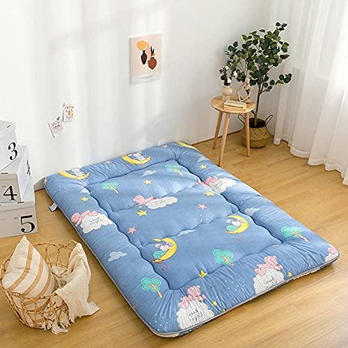 LIMIAO Colchón de futón Suave y Antideslizante, colchón de Tatami Plegable, colchón de colchón portátil para Acampar, colchón para Dormir para dormitorios (120x200cm),C,150x200cm (59 * 79 Inches)
