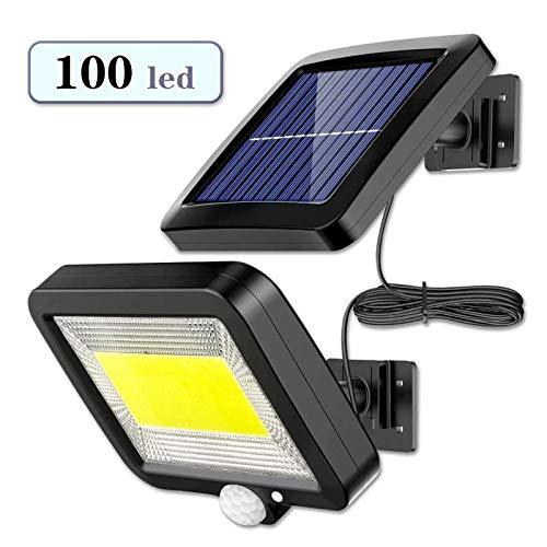 Luz Solar Exterior con Sensor de Movimiento, EJNOY 100 LED