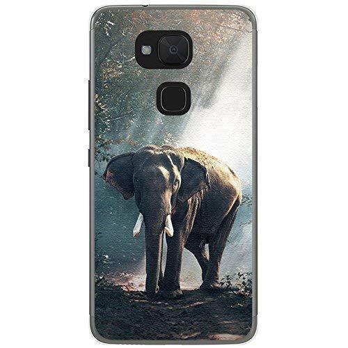 Tum&osmartphone Hülle Gel- TPU Hülle Für bq aquaris V/Vs Design Muster - Elefant