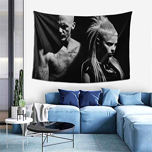 Tapestry Wall Hanging Die Antwoord dis iz why i m hot tapestry for Dorm aesthetic Home Wall Decor Beach Blanket One Size
