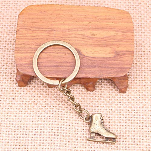 N/ A modieuze sleutelhanger 21x18x6mm skischoenen hanger DIY mannen sieraden auto sleutelhanger ringhouder souvenir voor geschenk