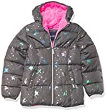 Limited Too Girls' Foil Puffer Jacket, Charcoal, 5/6