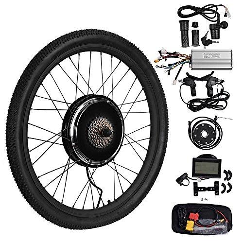 "Vogvigo 26"" 48V 1500W Rueda Trasera Hub Motocicleta Bicicleta electrica DIY Kit de conversión con LCD Display (48V 1500W)"
