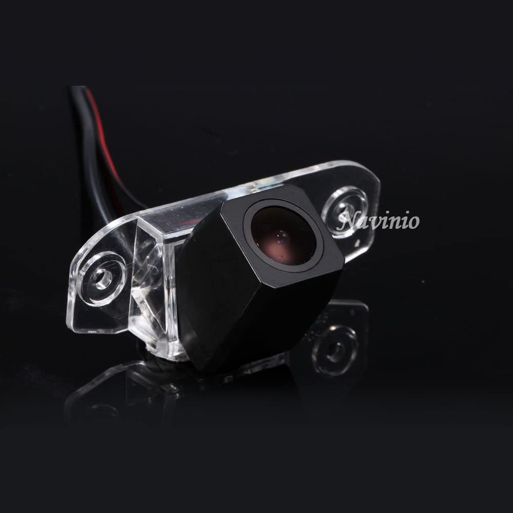 Navinio Waterproof High Definition Color Wide Viewing Angle License Plate Car Rear View Camera with Night Vision for S80// SI40//XC60 //XC90// S40 //C70 //S80L //S40L //S80 Starlight Super pro camera