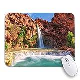 Adowyee Gaming Mouse Pad Blue Havasu Falls Waterfalls in The Grand Canyon Arizona 9.5