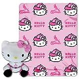 MLB St. Louis Cardinals Hello Kitty Hugger Pillow & Fleece Throw Blanket Set, 40' x 50'