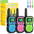 KAQINU Walkie Talkies for Kids, 3 Pack 22 Channels 2 Way Radio 3 Miles Range Kids Walkie Talkies with Flashlight and Backlit LCD Screen, Best Gift Toys for Kids Outdoor Adventure, Camping, Hiking by KAQINU
