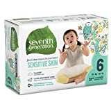 Seventh Generation Baby Diapers for Sensitive Skin, Animal Prints, Size 6, 20 Count