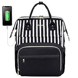 LOVEVOOK Sac à Dos Femme pour Ordinateur 15,6 17 Pouces, Sac Ados Imperméable Sacs à Dos PC avec USB Charging Port pour…