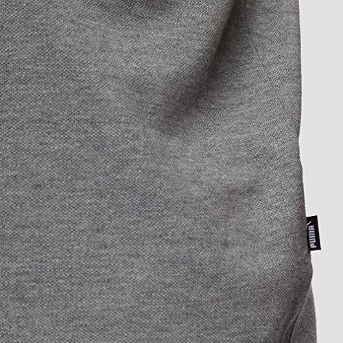 PUMA Essential Short Sleeve Men's Polo Shirt Medium Gray Heather 4XL