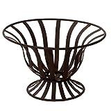 Varia Living Obstschale groß Kreta aus Metall 3 Designs zur Auswahl | Vintage Design und modern zugleich | ideal zur Aufbewahrung als Korb für Obst und Gemüse | schwarz (rund hoch ohne Griff)