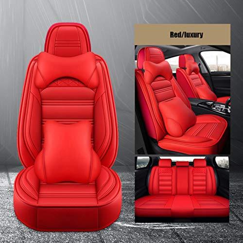 XIARI Coprisedili per Auto Universali per Toyota Corolla CHR Rav4 Prius Auris Avensis Land Cruiser Prado 150 Accessori per Auto-Lusso Rosso