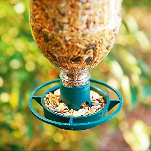 QIANSHI Umweltschutz coatingMake Haus näher t Bottle Top Hanging Bird Feeder Kit - Bereiten Sie Getränk Flaschen in Wild Bird Feeders ROSTFREIER Stahl