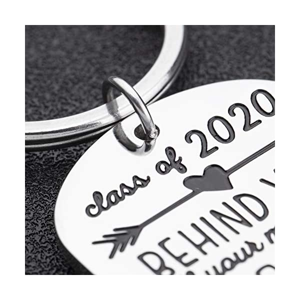 Graduation Gifts Keychain for Class 2020 Her Him Daughter Son Women Best Friend College Boys Girls Behind You All Your Memories Inspirational Gift Key Ring